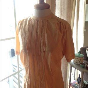 Vintage Sidney heller created blouse peach S